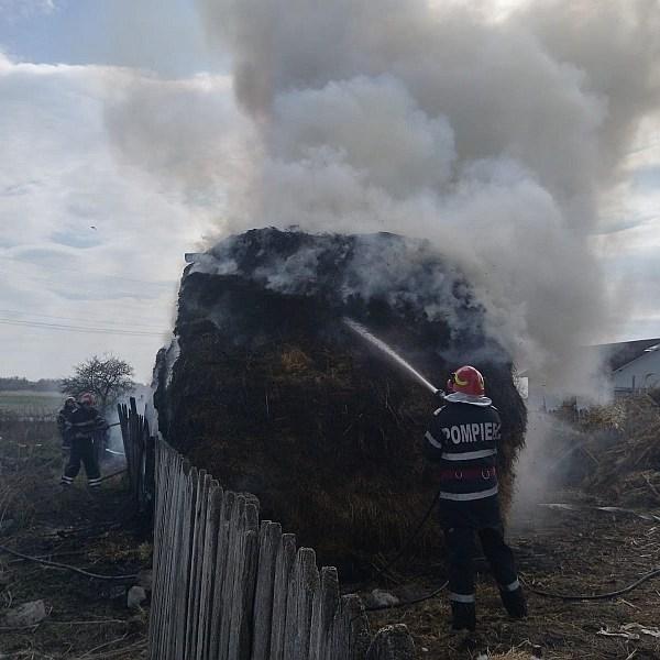 Muniție neexplodată și incendiu la Sudiți