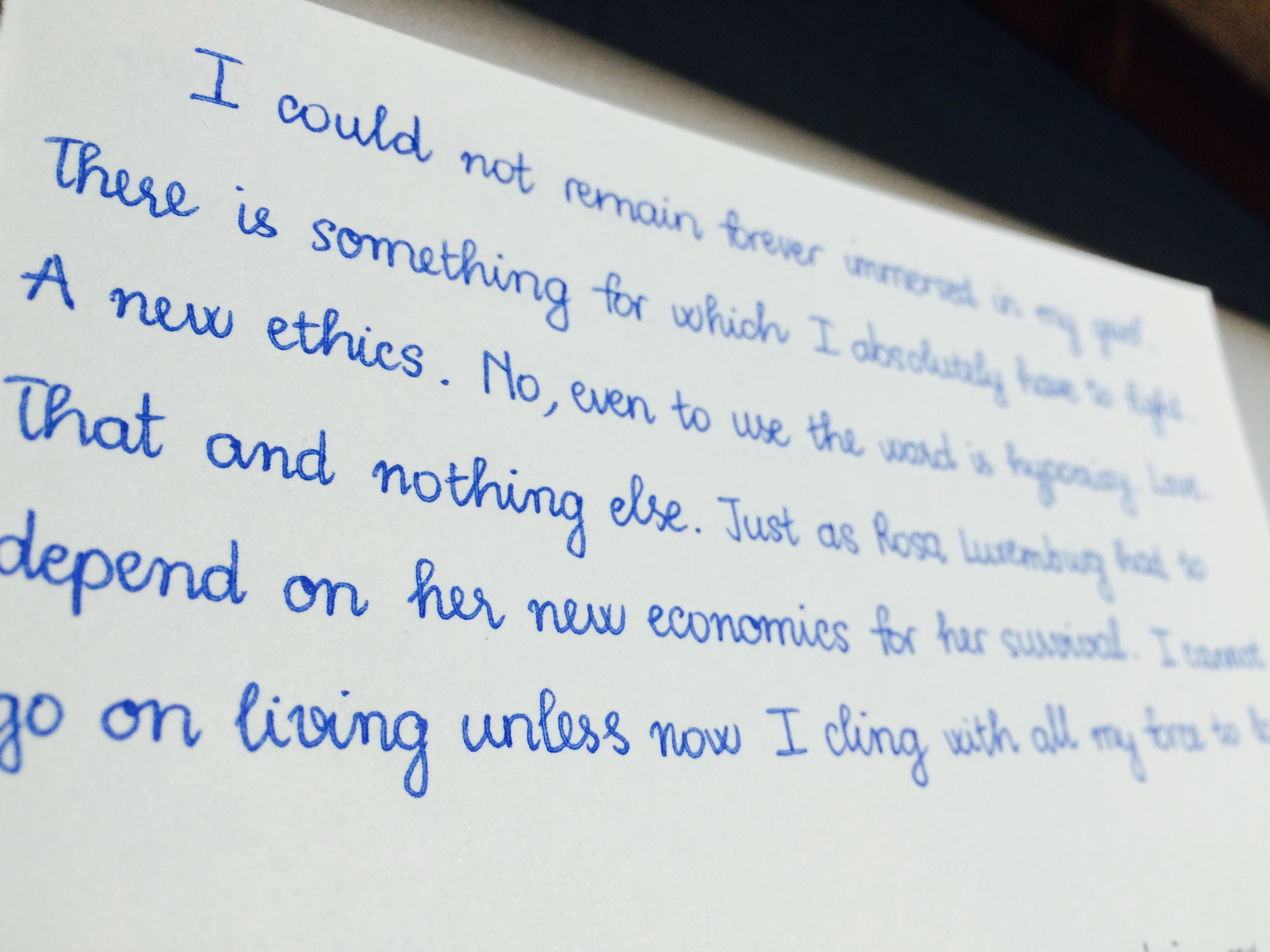 The Story Of My Handwriting The Notebook