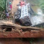 More pix of the collapsed bridge in Ndi Ebe Abam, Abia State.