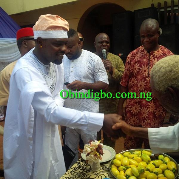 Chibuzor Okonkwo greeting the Elders
