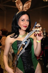 Victoria Schmidt from Heroes of Cosplay as a playboy Loki. Awesome
