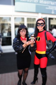 My nieces were an awesome Violet Parr and Edna Mode from the Incredibles