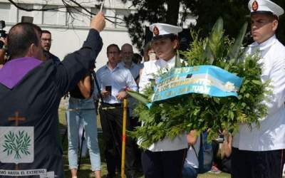 El Ministro de Defensa de la Nación, Ingeniero Agustín Rossi, rindió homenaje a los tripulantes del ARA San Juan