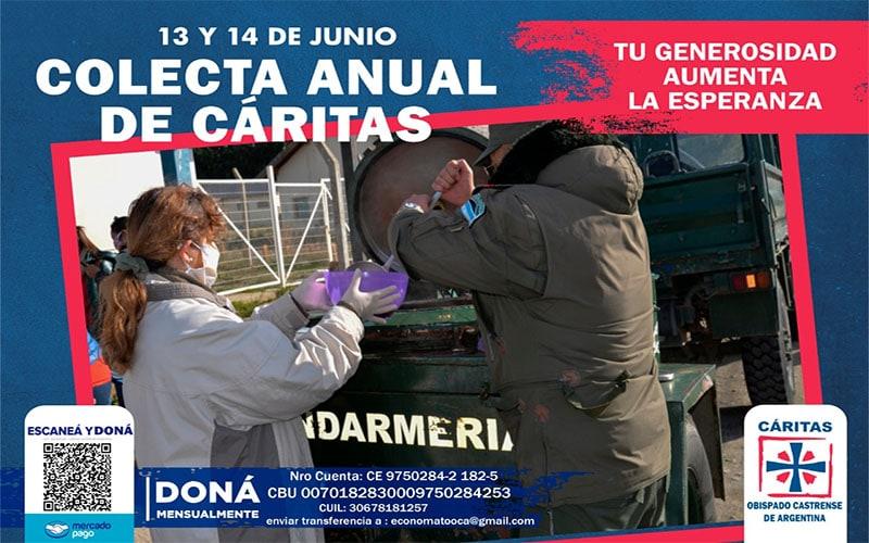 Cáritas Castrense Argentina, coleta anual, 13 y 14 de junio