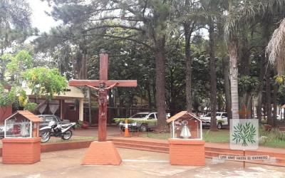 Misiones | Fue entronizada la imagen de Cristo en la Plaza de Armas del Escuadrón 9 Oberá de GNA
