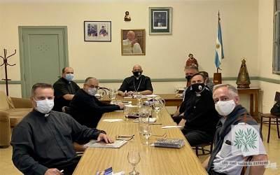 CABA | En la Casa Sacerdotal Juan Pablo II se desarrolló la 1° Reunión de Capellanes Mayores del 2021 junto a nuestro Obispo