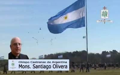Mons. Olivera   La Iglesia Castrense de Argentina, renueva en este día del Ejército la alegría de poder servir a los hombres y mujeres de las Fuerzas