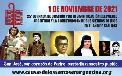 25° Jornada de Oración por la Santificación del pueblo Argentino y la glorificación de sus Siervos de Dios en el año de San José