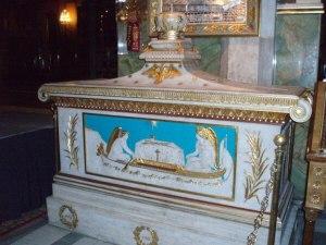 Гробница Патриарха Григория в Афинском кафедральном соборе.