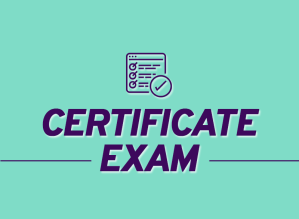 Course photo: Certificate Exam