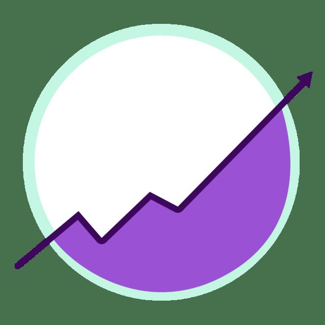 up trending arrow graph