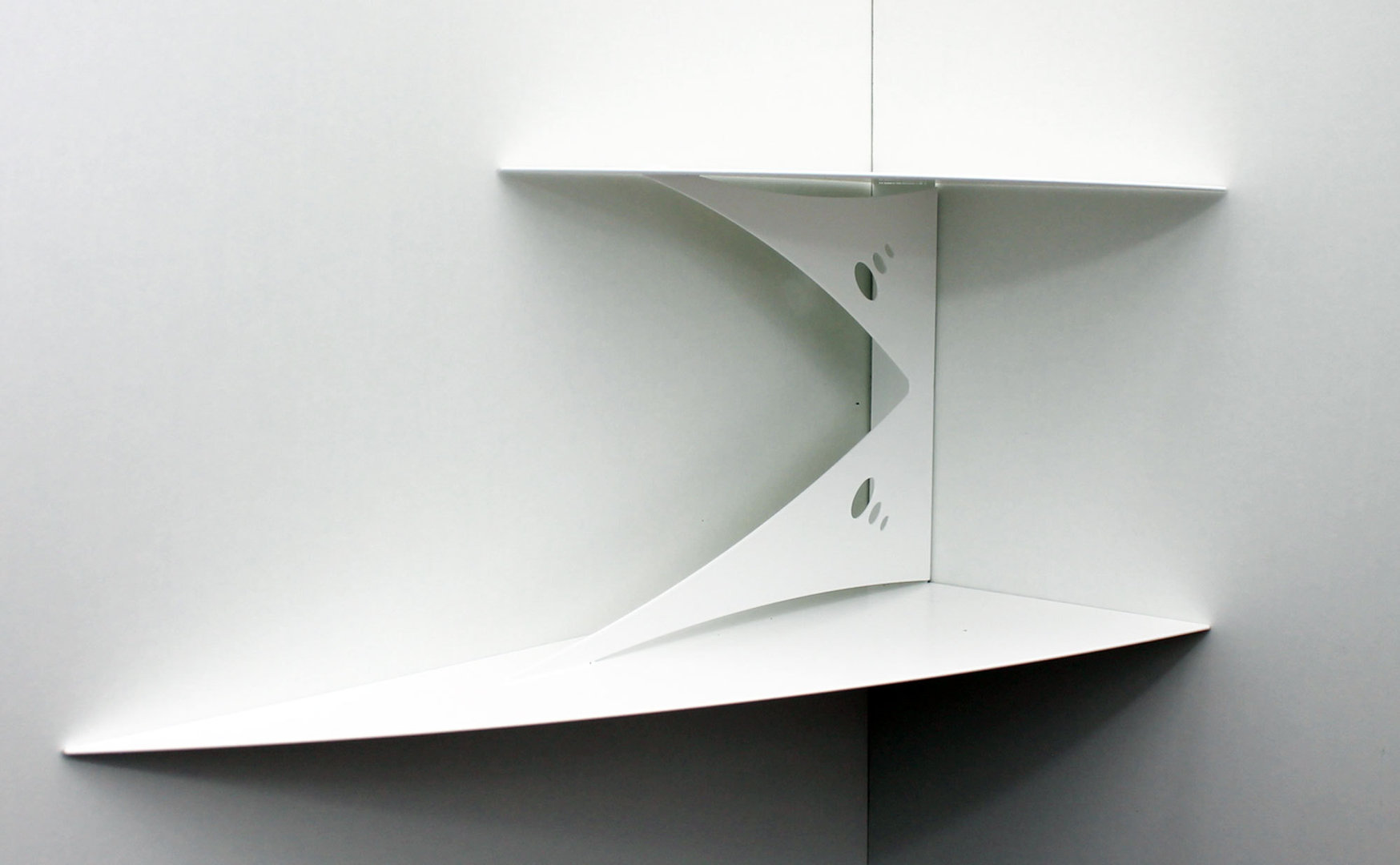etagere d angle murale blanche design