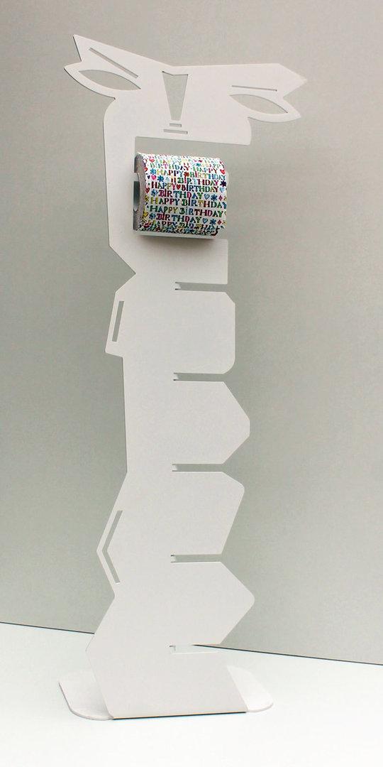 Porte papier toilette sur pied blanc drouleur wc design et dco