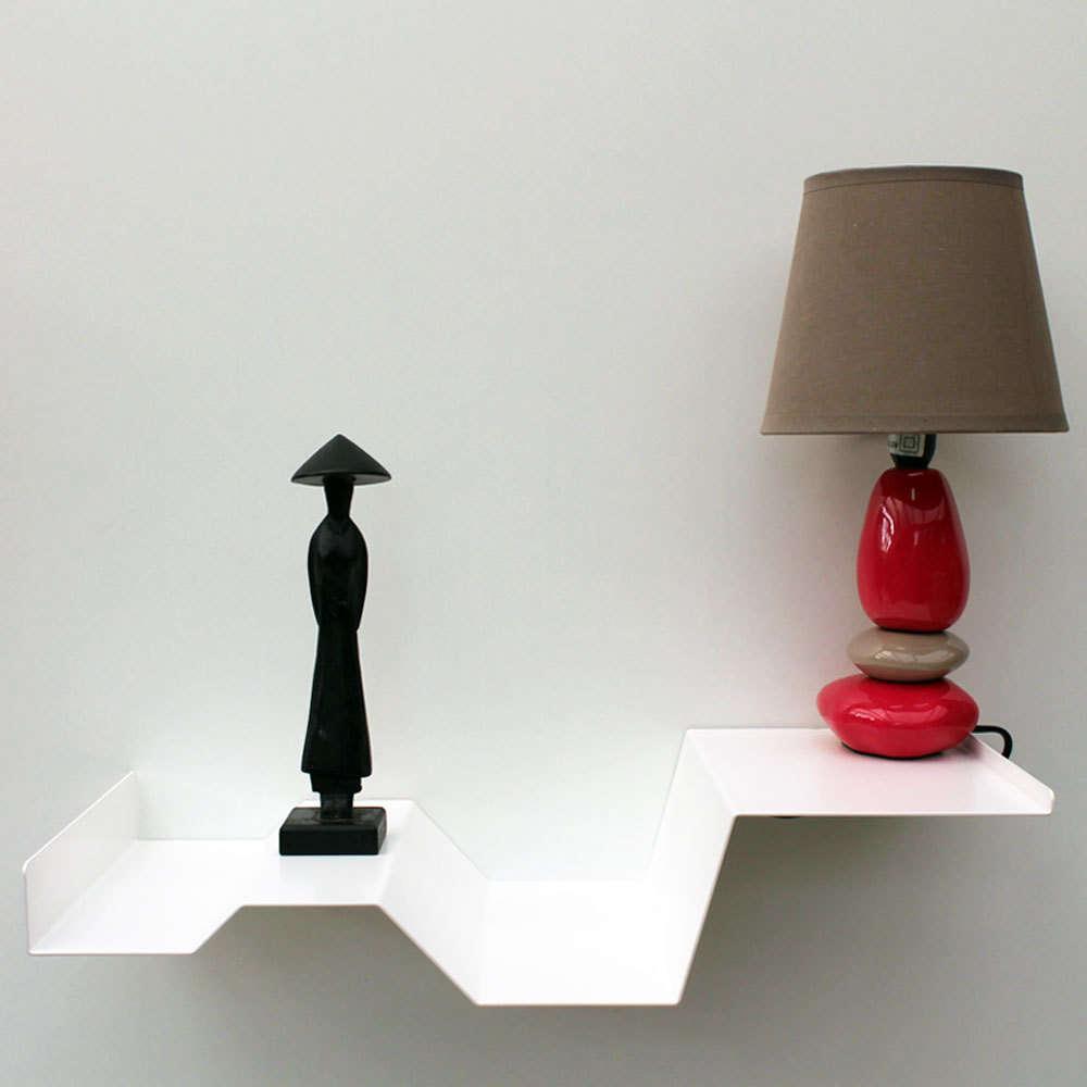 ... Table De Chevet Suspendue Blanc Boisholz ...