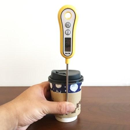紙製カップスリーブの断熱性実験