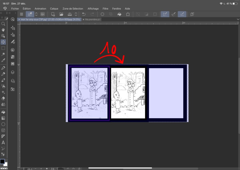 Copie de calque sous clip studio paint 6