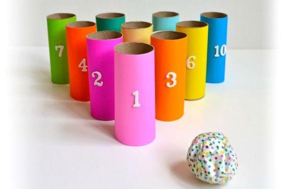 Idées créative enfant rouleau de papier toilette vide Objectif IEF