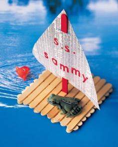 Bâtonnets de glace activité enfant Objectif IEF radeau bateau