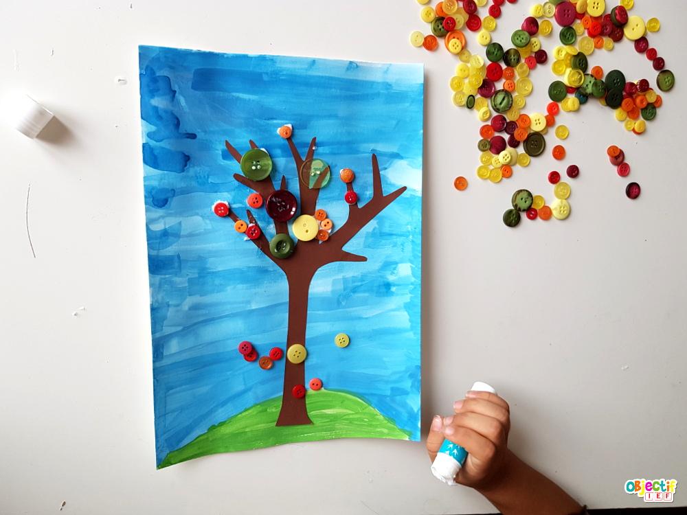 arbre d'automne art visuel challenge créatif bouton action objectif ief