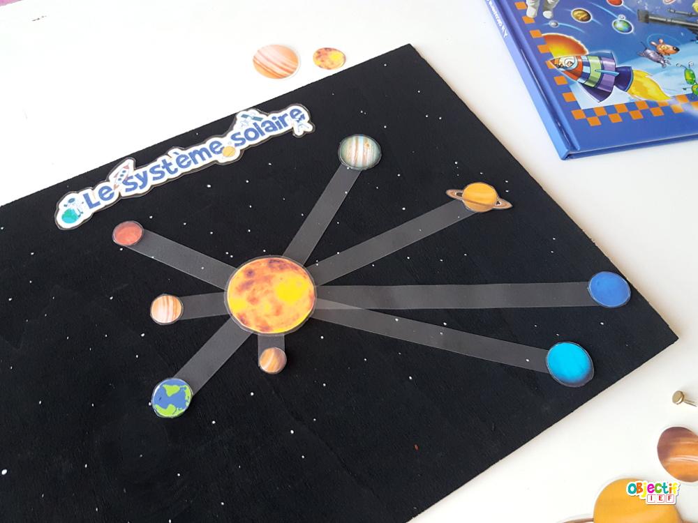 système solaire fabrication support à manipuler instruction en famille découverte du monde cycle 2 DDM objectif IEF