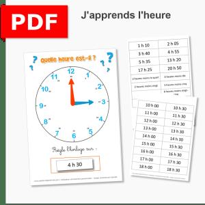 apprendre l'heure mesure du temps atelier fichier pdf ief instruction en famille école à la maison ddm découverte du monde temps