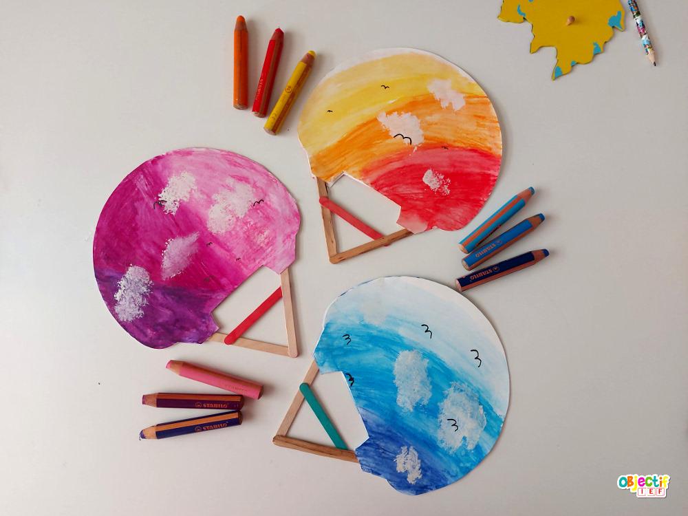 bricolage activité manuelle éventail japonais enfant diy japon tour du monde ief instruction en famille ecole à la maison kids craft japan ideas