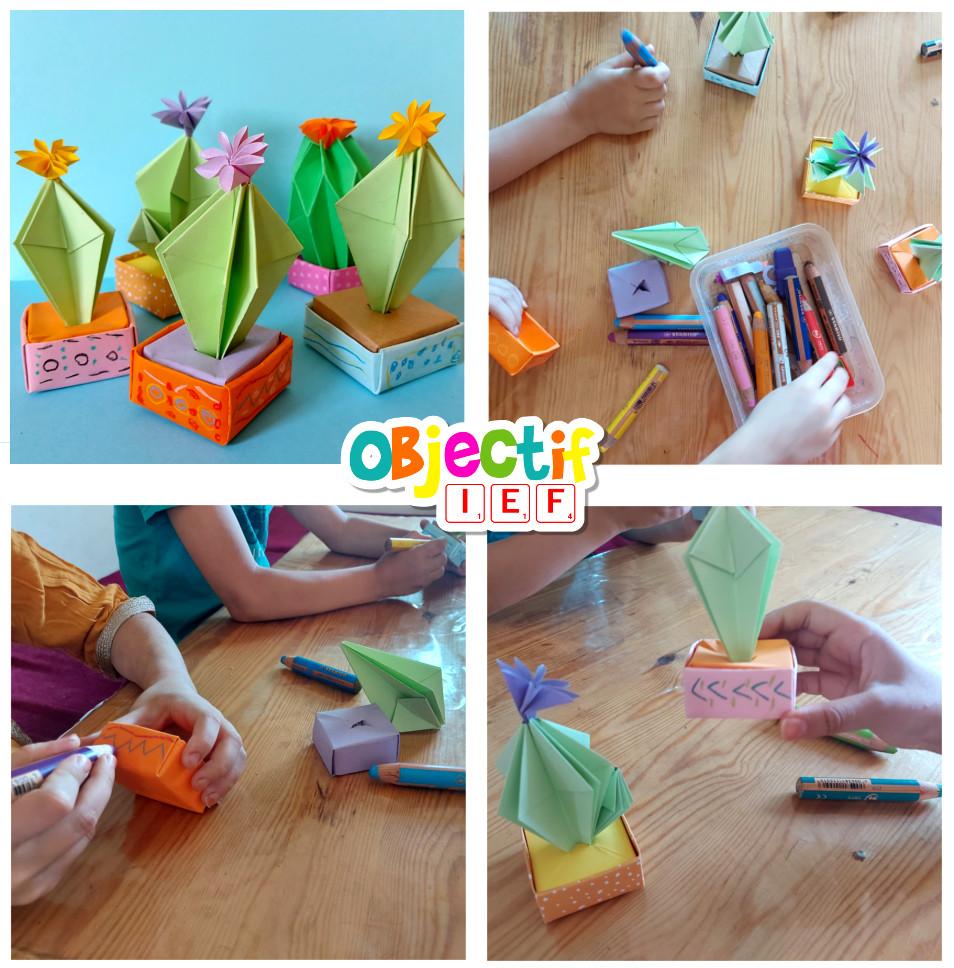 origami cactus recette cuisine tour du monde ief objectif ief instruction en famille