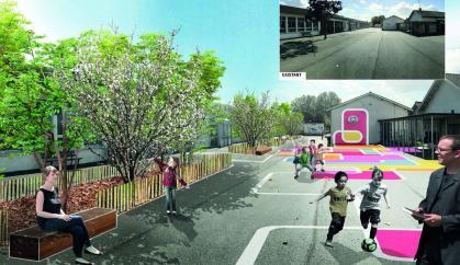 Cours d'école de Libourne - Palmarès du paysage 2021 / Atelier CLAP