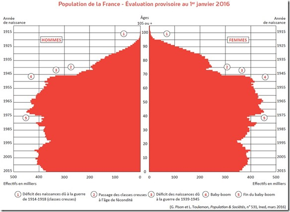 Pyramide des ages France