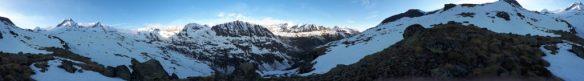 Vue panoramique Grand Paradis - Approche