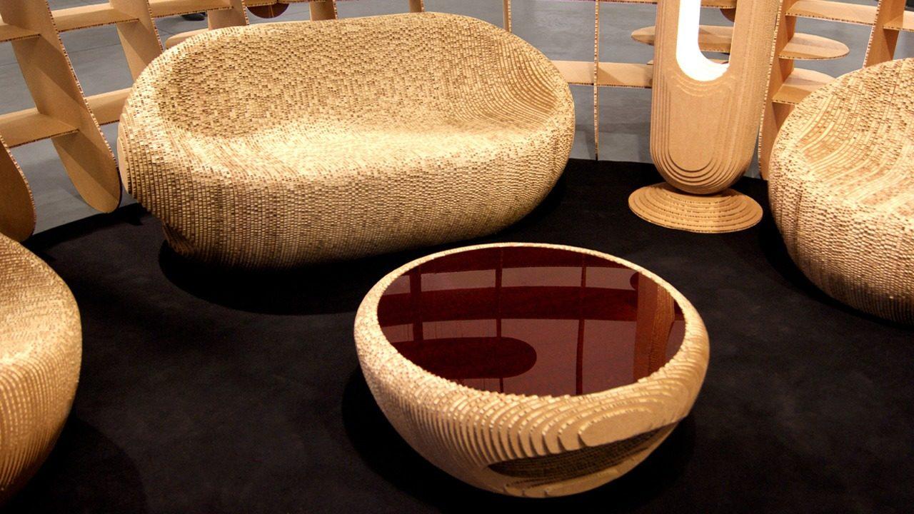 Meubles en carton design Giancarlo Zema