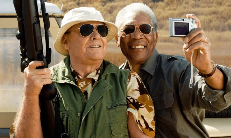 Jack Nicholson et Morgan Freeman dans Sans plus attendre, The Bucket List, de Rob Reiner