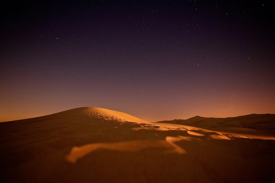 nuit etoilee dans le Sahara