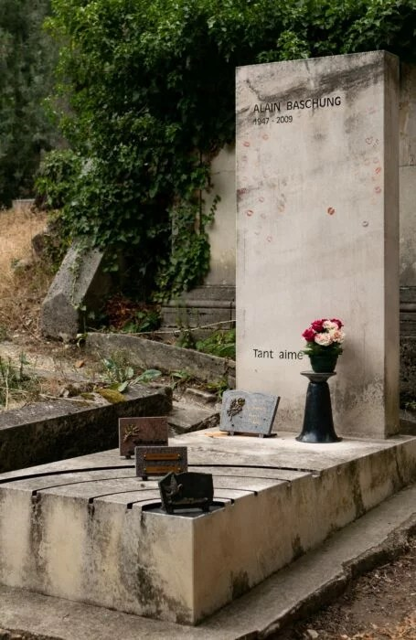 Tombe Bashung Pere Lachaise