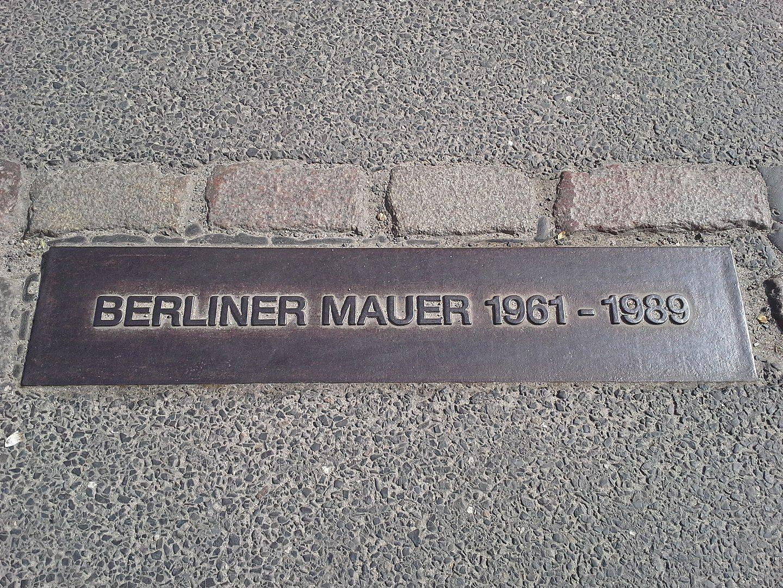 Plaque Mur de Berlin