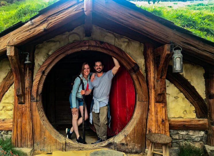 Maison Hobbit Hobbiton Nouvelle-Zelande