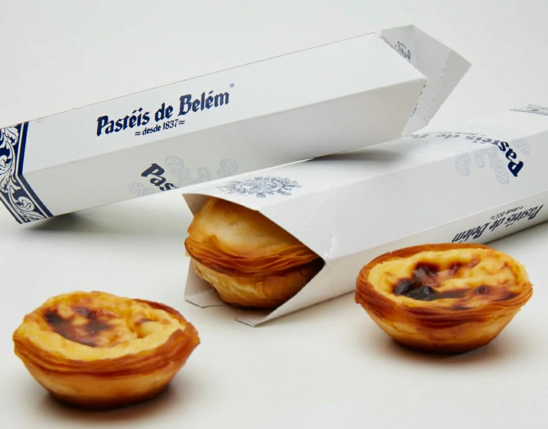 Pasteis packaging blanc
