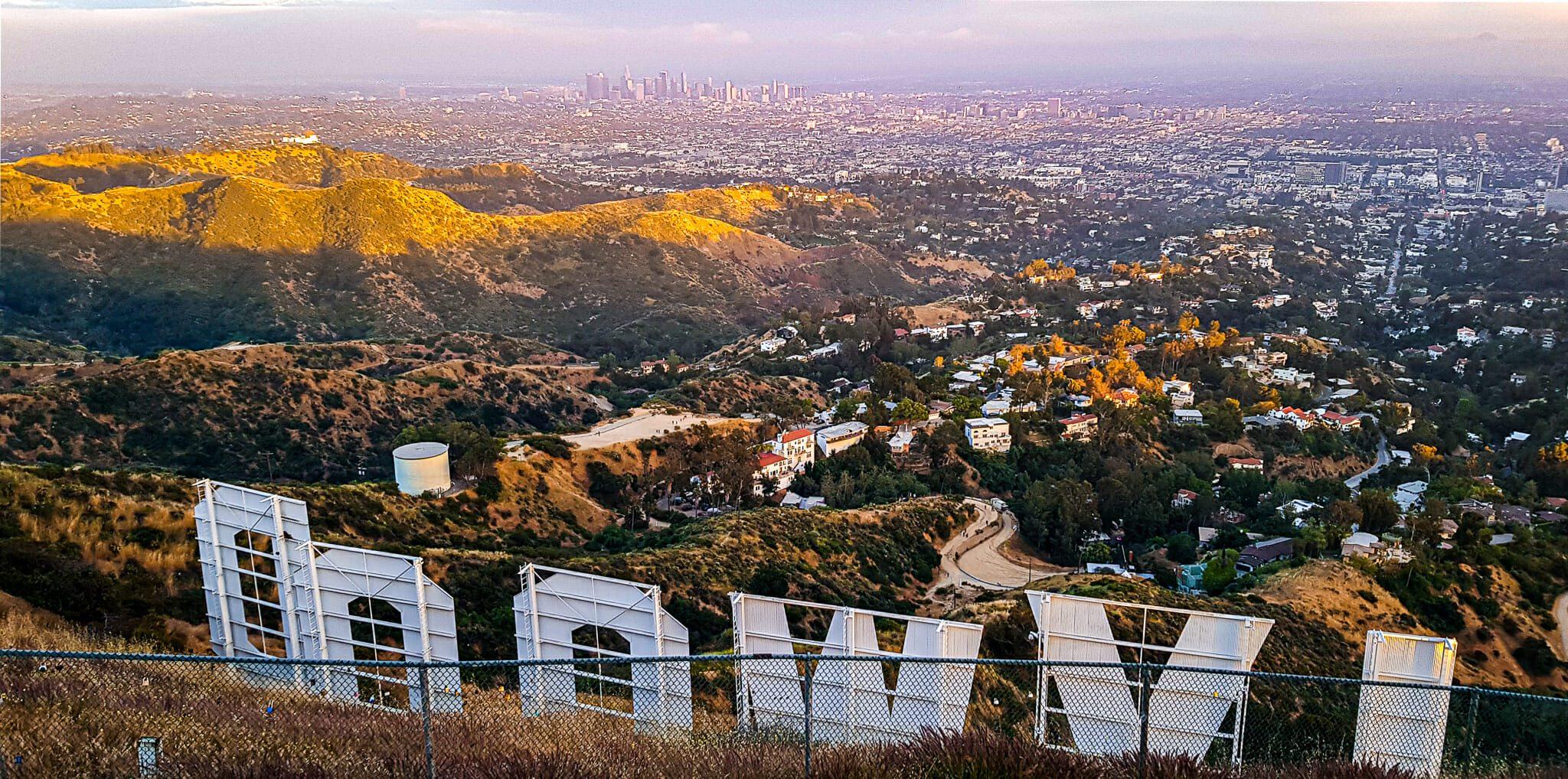 Vue depuis le panneau Hollywood