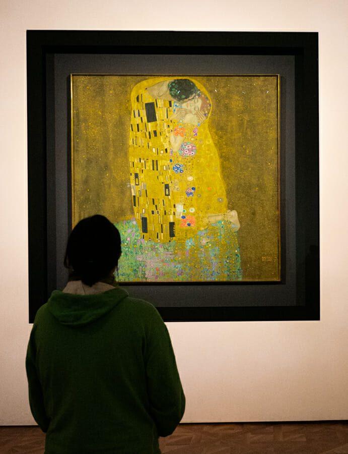 Baiser de Klimt Vienne