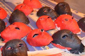 Les masques avant de les retravailler