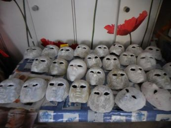 Tous les masques ont été enduits