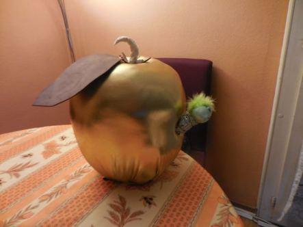 La pomme au départ