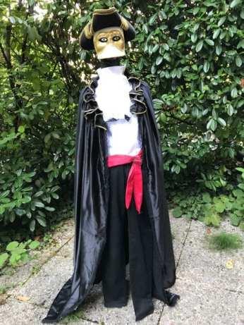 Le costume des Casanova (le pantalon n'est pas fixé sur le mannequin, d'où l'aspect étrange...)