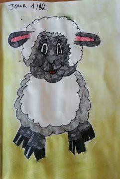 Dessiner un mouton aux feutres