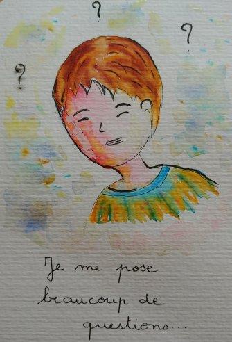 enfant question aquarelle