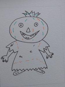 dessin citrouille Halloween