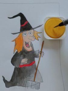 Comment Dessiner Une Sorcière : comment, dessiner, sorcière, Comment, Dessiner, Sorcière, D'Halloween