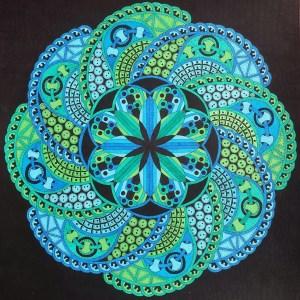 zentangle en couleur
