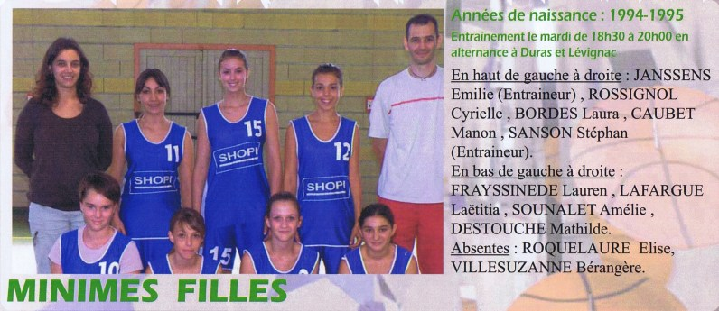 2008-2009 Minimes Filles
