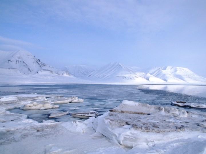 fjord glace longyearbyen